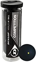 DUNLOP Competition Squash Balls (3 Ball Tube)
