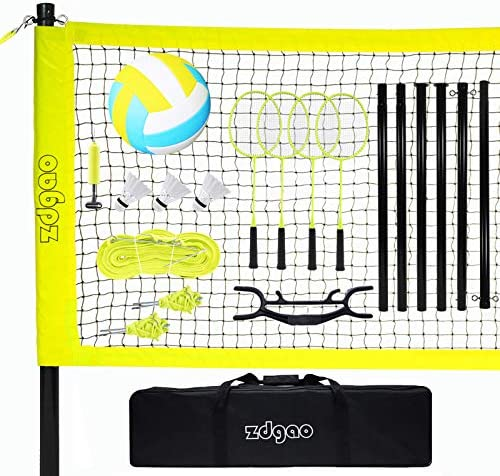 Volleyball and Badminton Set for Backyard and Outdoors with Easy Set up Volleyball Net 4 Pro product image