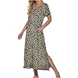 HCOO Damen Nachthemd Nachtkleid Kurz Nachtwäsche Negligee Umstandskleid Stillnachthemd Oversize Sleepshirt aus Modal