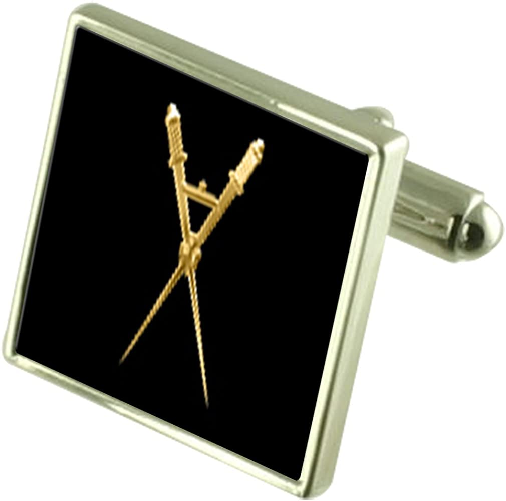 Select Gifts Solid Silver OFFicial mail order Masonic Master of Soldering S Ceremony Cufflinks
