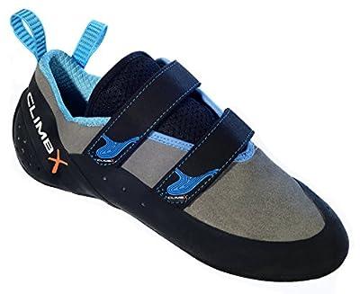 Climb X Rave Strap Climbing Shoe 2018 (7.5, Gray)