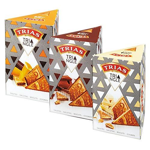 トリアス(TRIAS)トライアングル チョコ ウエハース 3種セット【 スペイン マドリッド おみやげ(お土産) 輸入 スイーツ 】