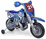 FEBER Motorbike Cross C - Moto Batterie avec Casque pour Enfants de 3 5 ans, 6v, Rouge (Famosa 800002995)