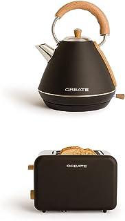 Create IkoHS Pack – Toast Retro Grille-pain + Ketle Rétro Bouilloire à eau