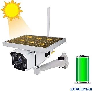 Cámara de seguridad Solar - Desarrollado 4G cámara de seguridad exterior IP67 impermeable 1080P HD de vídeo cámara de vigilancia con la Noche de tarjetas TF de detección la visión (no incluir)A