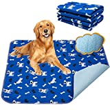 Yangbaga Empapadores Perros, Pañales de Perro Lavable y Reutilizables Empapadores de Entrenamiento para Adecuado para Perros Pequeños y Medianos o Gatos, Antideslizante, (90 * 80cm)