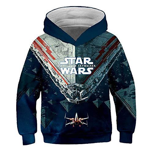 Star Wars Pullover Langarm Hoodies All-Match Outwear modischer Entwurf Sweatshirt Breath Pullover Western-Art-Mäntel for Jungen und Mädchen Junge und Mädchen (Color : A31, Size : 150)