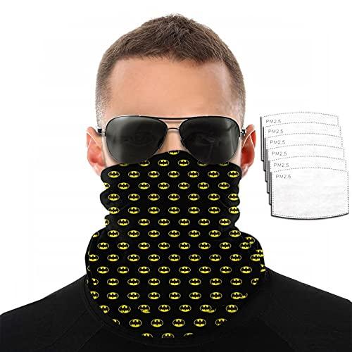QPZM Ba-Tm-an - Polaina para cuello con filtro, reutilizable, máscara de pasamontañas, transpirable, lavable, bufanda, diadema, para hombres, mujeres, deportes al aire libre
