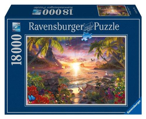 Ravensburger - 17824 - Puzzle - Paradis au Soleil Couchant - 18000 pièces