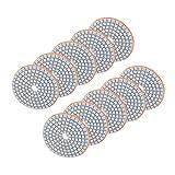 Carta vetrata tonda 10 pezzi Utensile per lucidatura da 3 pollici Resistente pastiglie levigatrici di alta qualità Cemento Marmo per granito
