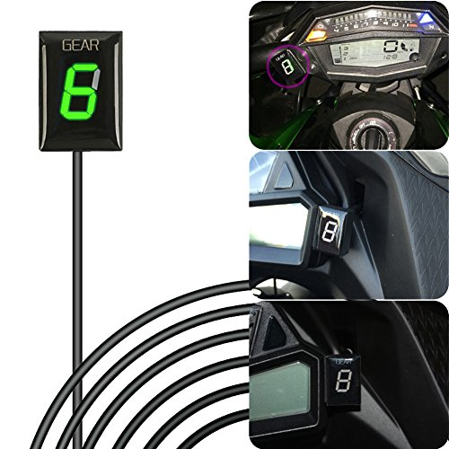 IDEA Indicador de engranaje impermeable de la motocicleta Plug & play Indicador LED verde para Yamaha