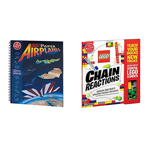 Klutz The Klutz Book of Paper Airplanes Craft Kit & Chain Reactions (Klutz Science/STEM Activity Kit)
