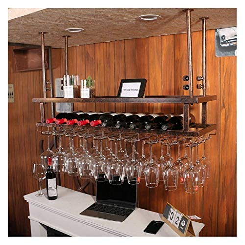 JYDQM Rack de Exhibición de Vino, Bastidores de Copa de Vino, Al Revés de la Barra de Barra de Barra de Barra de Vino, Bastidores de Copa de Vino, Bastidores de Vitrinas, Bastidores de Exhibición de
