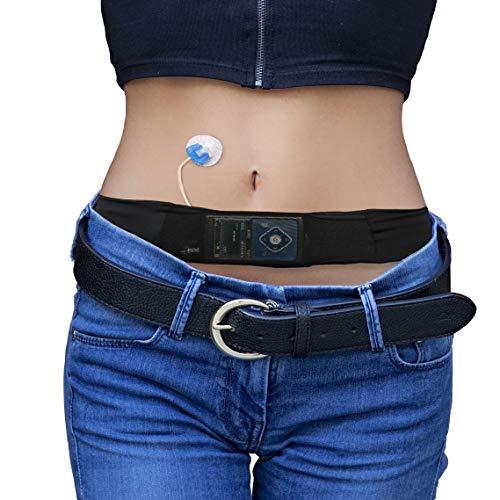 Glucology™ Diabetes Gürtel Insulinpumpe | Schwarz, Klein| Geeignet für Sport oder Reisen – Diskret, mit einfachem Zugriff auf die Insulinpumpe | Mit Klettverschluss, geeignet für alle Insulinpumpen…