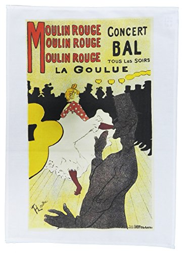 Half a Donkey Moulin Rouge - Retro Style Advertising Poster Large Cotton Tea Towel