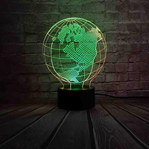 RJGOPLYdwdnovelty Creative 3D Earth Globe LED kleurrijk licht baby camera surprise slaap nachtlamp kinderen Kid Holiday Xmas Gift Remote