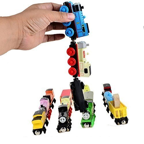 Magnetic Wooden Train Car Set Works with Thomas and Friends Wooden Train Sets (Pack of 2)