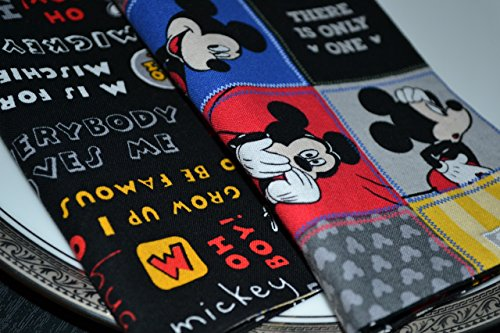 Mickey Mouse Reversible Cloth Napkins/Set of 4