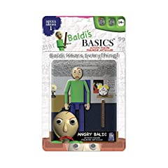"Series 1; Fully-posable action figure with 9 (count 'em!) points of articulation. Stands 5"" (12.7cm) tall, made of high-quality PVC material. Comes with 2 accessories unique to each figure. Four total characters to collect: Baldi, Bully, Principal, A..."