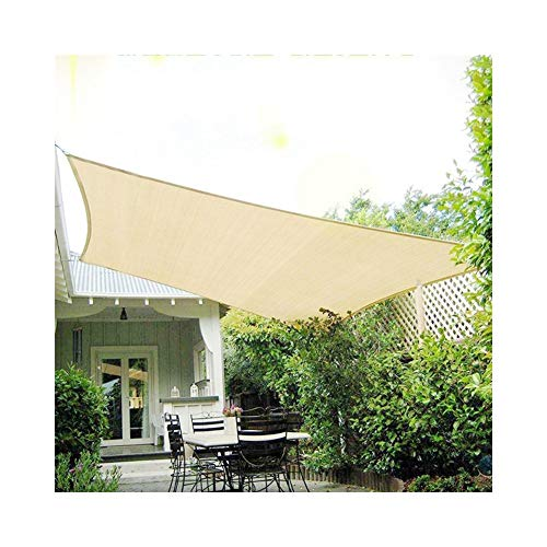 ALGFree-Velas de sombra Cubrir Toldo De Sol Protector Solar Aislar el Calor al Aire Libre Balcón Jardinería Plantas Suculentas Patio Flores,9 Tallas (Color : Beige, Size : 4×6m)