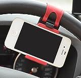 JessicaAlba Car Steering Wheel Mount phone Holder monopod for selfie stick suporte para celular for samsung galaxy s5 s4 iphone 6 LG stand