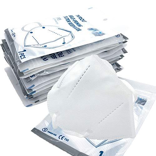 DECADE Atemschutzmaske FFP3 Maske - 5 Stück - Mundschutz FFP3 Maske medizinisch einzelverpackt, Maske FFP3 Atemschutzmaske, Masken Mundschutz FFP3 ohne Ventil,