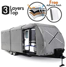Breathable 4-Ply Non-Woven Fabric with Adhesive Repair Patch 12/' Folding Camper Trailer Cover OOFIT 10/'