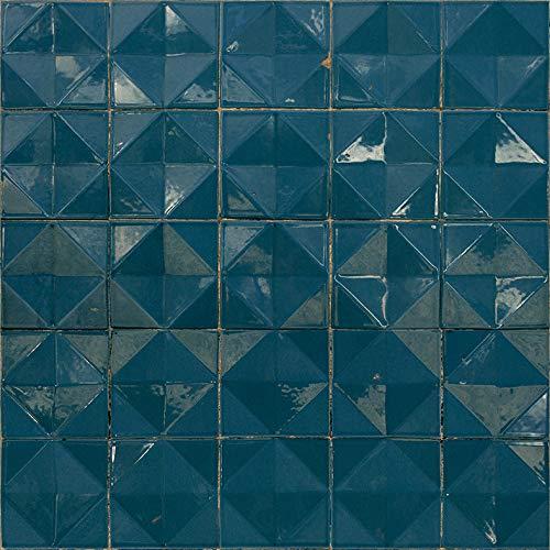 Coordonne Papel de Parede Azulejos Azul