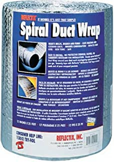 Reflectix DW1202504 Spiral Duct Wrap, Silver
