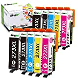 Kingjet Remanufactured Ink Cartridge Replacement for Epson 273 XL 273XL T273...