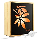 Levoit Salt Lamp, Himalayan/Hymilain Sea Salt Lamps, Pink Crystal Large Salt Rock Lamp, Night Light, Real Rubber Wood Base, Dimmable Touch Switch, Luxury Gift Box