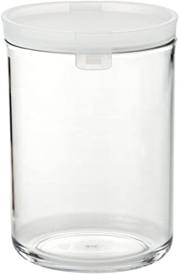 タケヤ化学 アクリルキャニスターSW-D1300 クリアホワイト D1300