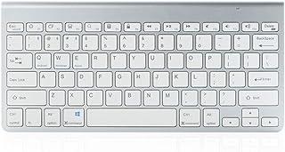 لوحة مفاتيح بلوتوث لاسلكية صغيرة 78-مفتاحاً رفيعة للغاية قابلة للشحن/لوحة مفاتيح بطارية 10 متر للوحة مفاتيح مكان العمل للج...