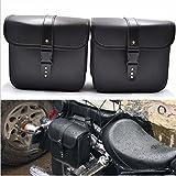 1 Paar Motorrad Satteltaschen Leder PU Wasserdichte abnehmba Werkzeugkasten Tankrucksack