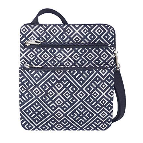 Travelon Unisex-Erwachsene Anti-Theft Boho Slim Bag Tragbare Umhängetasche, Mosaikfliese, One_Size