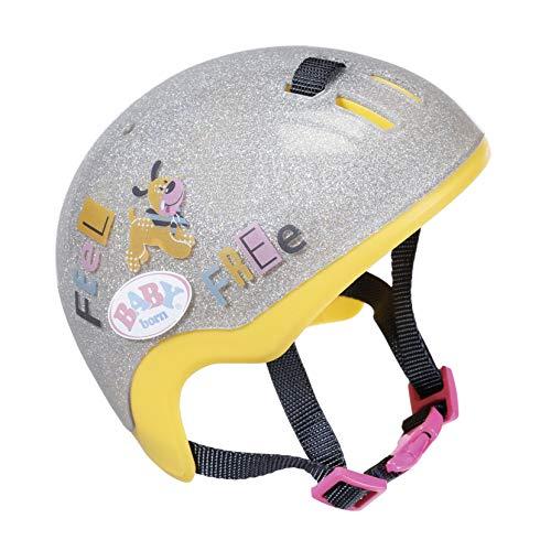 BABY born Fahrradhelm für 43cm Puppe - Schutz für die Puppe - Einfach für kleine Hände, Kreatives Spiel fördert Empathie & Soziale Fähigkeiten, für Kleinkinder ab 3 Jahren