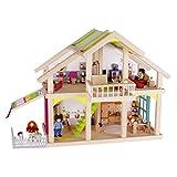 Goki 51588 Puppenhaus 'Veranda Susibelle' aus Holz/Textil
