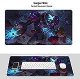 Alfombrilla de ratón profesional para juegos de League Legends, de goma antideslizante impermeable para ordenador portátil (Champion Azir Gravelord)