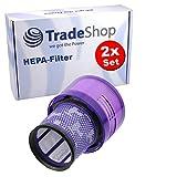 Trade-Shop - 2 filtros HEPA para Dyson Cyclone V11 Absolute, Absolute Pro, Absolute Extra, Absolute Extra +, Absolute Extra Pro, SV14 / premotor lavable