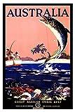 IGNIUBI Vintage World Travel Tourism Poster Australien