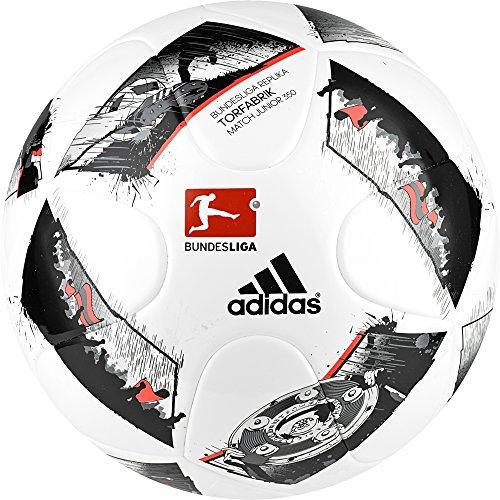 adidas DFL Junior 350 Fußball, White/Black/Solar Red, 5