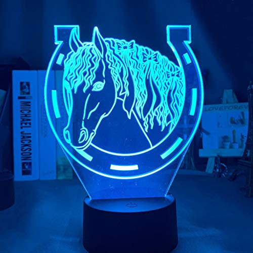 Acrylic Led Night Light Touch Sensor Color Changing Nightlight for Home Decoration Light Cool Gift 3d Illusion Lamp Horseshoe