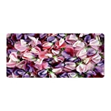 Gaming Mouse Pad Pink and Purple Flowers Pattern Art Desktop and Laptop 1 Pack 600x400x3mm/23.6x15.7x1.1 in