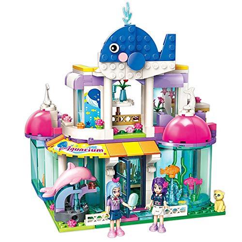 Tagke Aufklärung Aufklärung Toy Girl Serie Blauwal Aquarium Montiert Lernspielzeug Traum 6-12 Jahre Alt Kampfblöcke