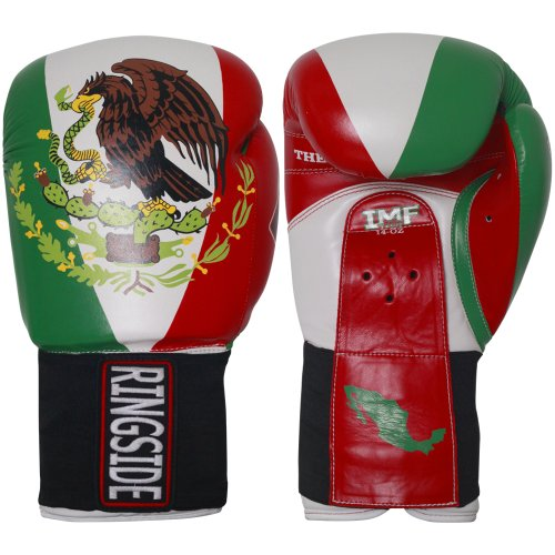 Ringside Limited Edition Mexico IMF Tech Boxing Training Sparring Gloves, 16-Ounce