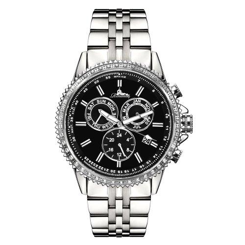 Richtenburg R11000 Cassiopeia Stahl Schwarz mit Edelstahlarmband Damen Automatik Armbanduhr