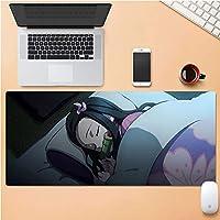 鬼滅の刃アニメマウスパッド,四角形 大灶门 炭治郎ロックエッジ デスクトップ用マウスパッド-b 80x30x0.4cm