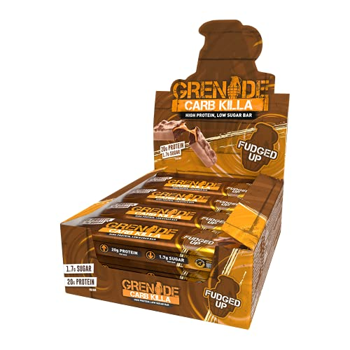 Grenade Carb Killa High Protein and Low Carb Bar, 12 x 60 g - Fudged Up
