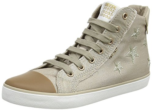 Geox Mädchen J Kilwi Girl C Hohe Sneaker, Beige (Beige), 34 EU