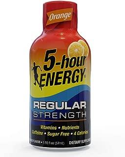 5-hour ENERGY Shot, Regular Strength Orange, 1.93 ounce, 24 pack